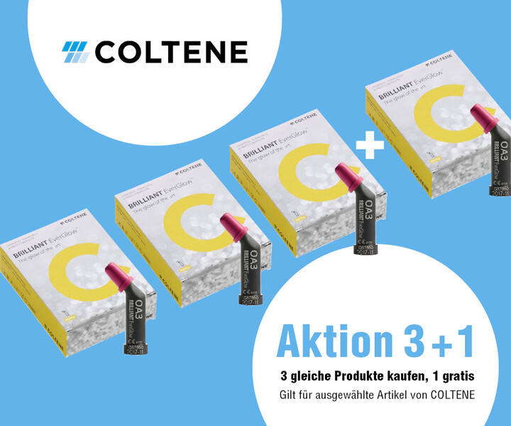 NWD AktionPlus: 3+1 von Coltene Brilliant Everglow & Synergy D6-Flow im NWD Dental Online-Shop